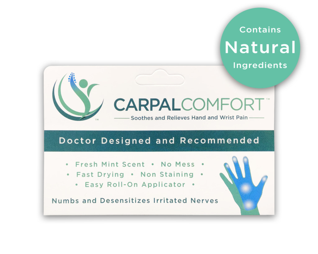 Carpal Comfort Roll-On - 3 fl oz - Front of Bottle - Designed to Soothe Carpal Tunnel Pain